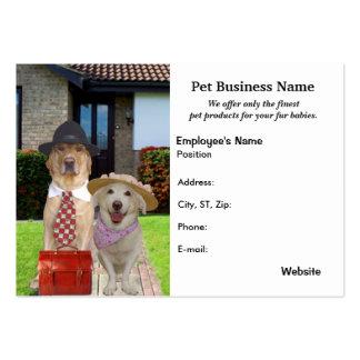 Produtos & negócios do animal de estimação cartão de visita grande