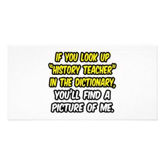 Professor da história no dicionário… minha imagem cartao com foto personalizado
