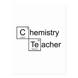 Professor da química cartão postal