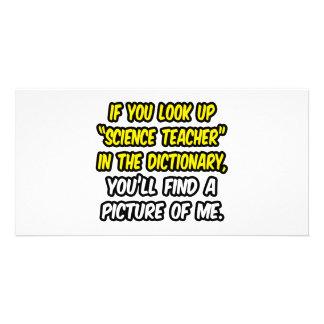 Professor de ciências no dicionário… minha imagem cartão com fotos personalizado