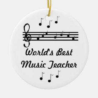 Professor de música do mundo o melhor ornamento de cerâmica redondo