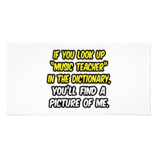 Professor de música no dicionário… minha imagem cartões com fotos