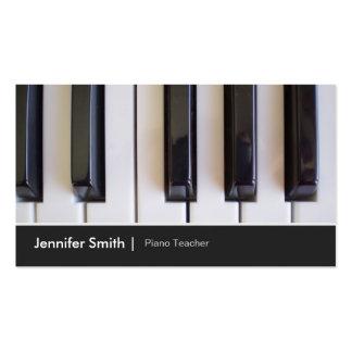 Professor de piano - imagem elegante da foto do cartão de visita