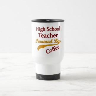 Professor de segundo grau psto pelo café caneca térmica