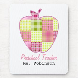 Professor do pré-escolar de Apple da xadrez Mouse Pad