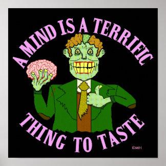 Professor engraçado Provérbio do zombi Pôster