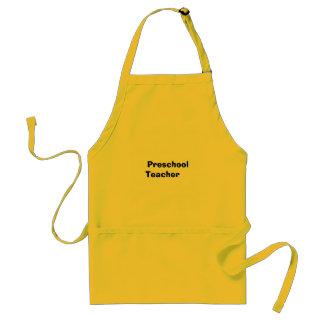Professor pré-escolar avental