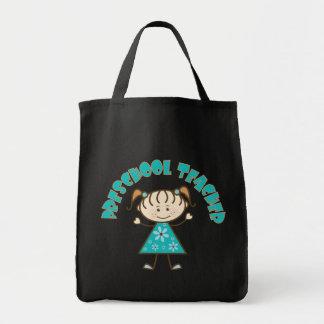 Professor pré-escolar bonito bolsa para compras