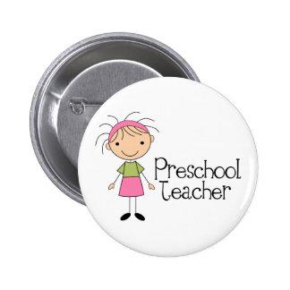 Professor pré-escolar boton