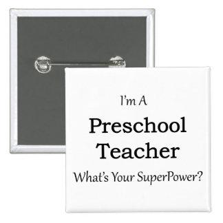Professor pré-escolar bóton quadrado 5.08cm