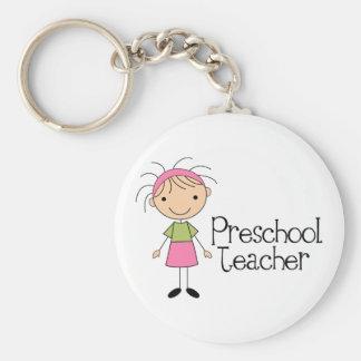Professor pré-escolar chaveiro