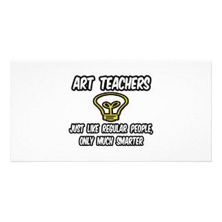 Professores de arte… como as pessoas regulares, so cartoes com fotos personalizados