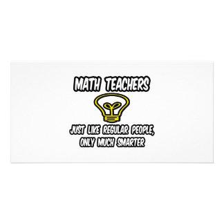 Professores de matemática… como as pessoas regular cartões com fotos personalizados