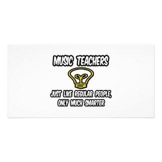 Professores de música… como as pessoas regulares,  cartoes com foto