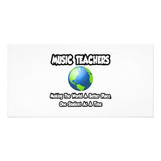 Professores de música… que fazem ao mundo um lugar cartoes com foto