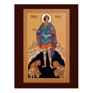 Profeta Daniel no cartão da oração do antro do leã Cartão Postal