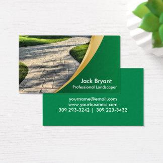 Profissionais da paisagem cartão de visitas