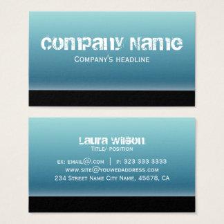Profissional azul moderno simples cartão de visitas