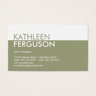 Profissional do verde do bloco da cor de tom do cartão de visitas