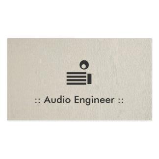 Profissional elegante simples do engenheiro audio cartão de visita