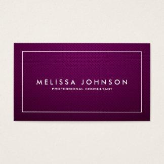 Profissional roxo e branco elegante & moderno cartão de visitas