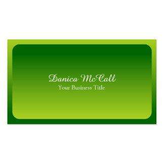 Profissional verde-claro fresco de Hombre Cartão De Visita