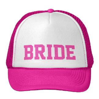 Profundamente - noiva cor-de-rosa e branca das bol boné