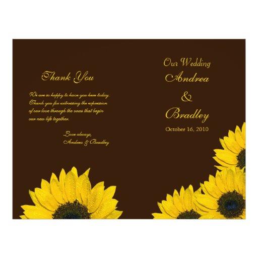Programa Amarelo Do Casamento De Brown Do Girol Modelos De Panfleto