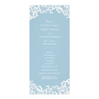 Programa clássico do casamento do laço 10.16 x 22.86cm panfleto