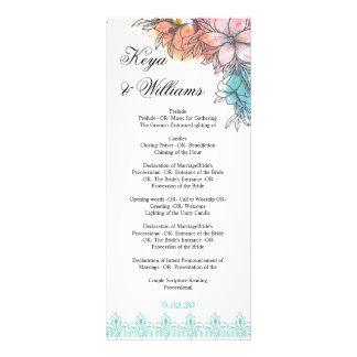 Programa da cerimónia de casamento 10.16 x 22.86cm panfleto
