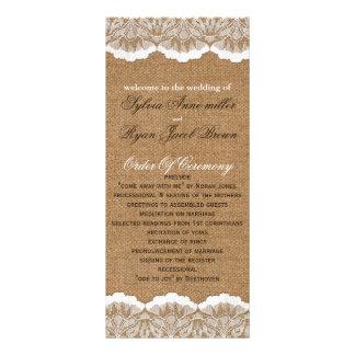 Programa de serapilheira do FALSO e de casamento 10.16 X 22.86cm Panfleto
