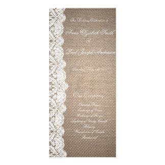 Programa de serapilheira e de casamento do laço modelo de panfleto informativo