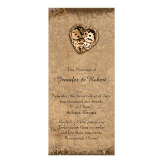 Programa do casamento da noiva de Steampunk do 10.16 X 22.86cm Panfleto