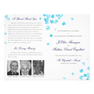 Programa do casamento panfletos personalizado
