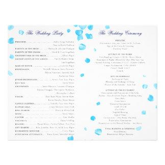 Programa do casamento panfletos coloridos