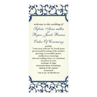 programa do marfim e do casamento dos azuis 10.16 x 22.86cm panfleto