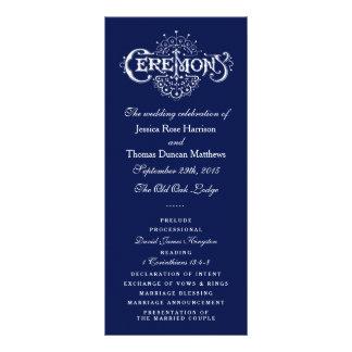 Programa elegante da cerimónia de casamento dos panfletos informativos