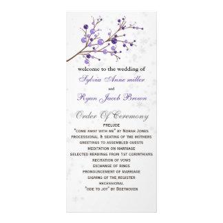 programa elegante do casamento no inverno das 10.16 x 22.86cm panfleto