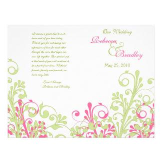 Programa floral abstrato do casamento do rosa quen