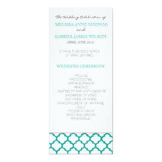 """Programa marroquino da cerimónia de casamento da convite 10.16"""" x 23.49cm"""