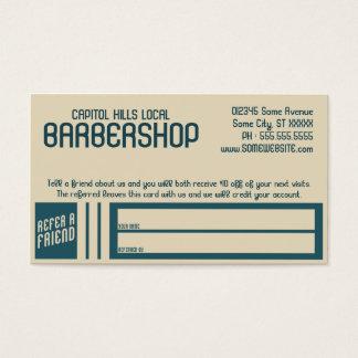 programa retro da referência do barbeiro cartão de visitas