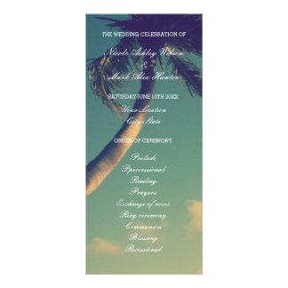 Programas da cerimónia de casamento do destino da 10.16 x 22.86cm panfleto