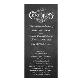 Programas elegantes da cerimónia de casamento do 10.16 x 22.86cm panfleto