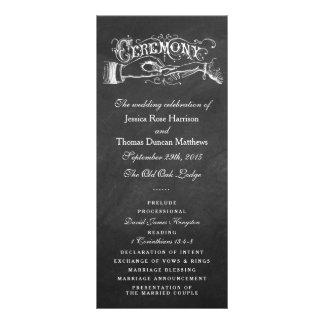 Programas elegantes da cerimónia de casamento do planfetos informativos coloridos