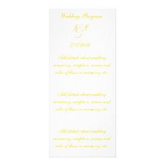 Programas elegantes do casamento do roteiro do our 10.16 x 22.86cm panfleto