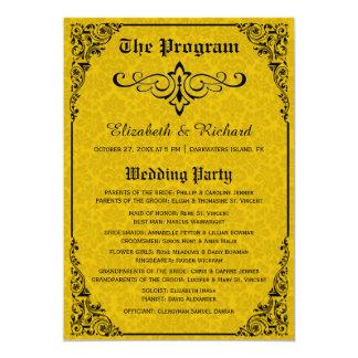 Programas góticos do casamento do Victorian Convite 12.7 X 17.78cm
