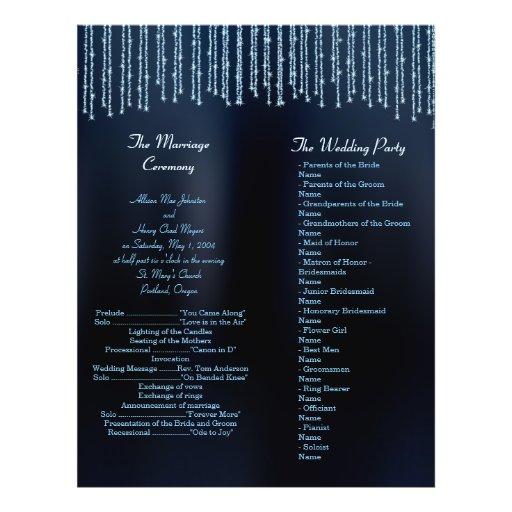 Programas modernos Sparkling pretos e do azul do c Panfletos Personalizados