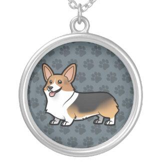 Projete seu próprio animal de estimação colar banhado a prata