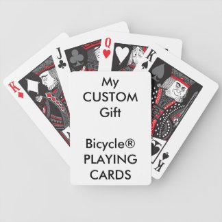 Projete seus próprios cartões de jogo feitos sob cartas de baralho