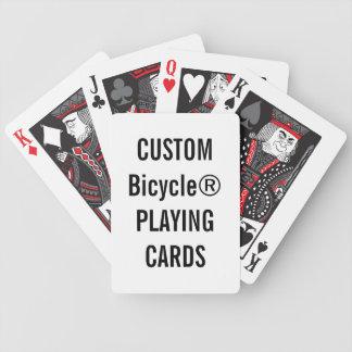 Projete seus próprios cartões de jogo feitos sob cartas de baralhos